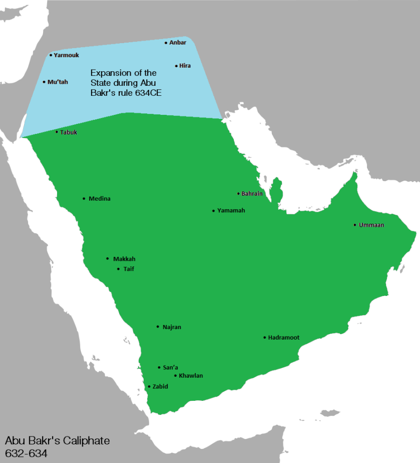 Abu Bakr land conquered 1 0